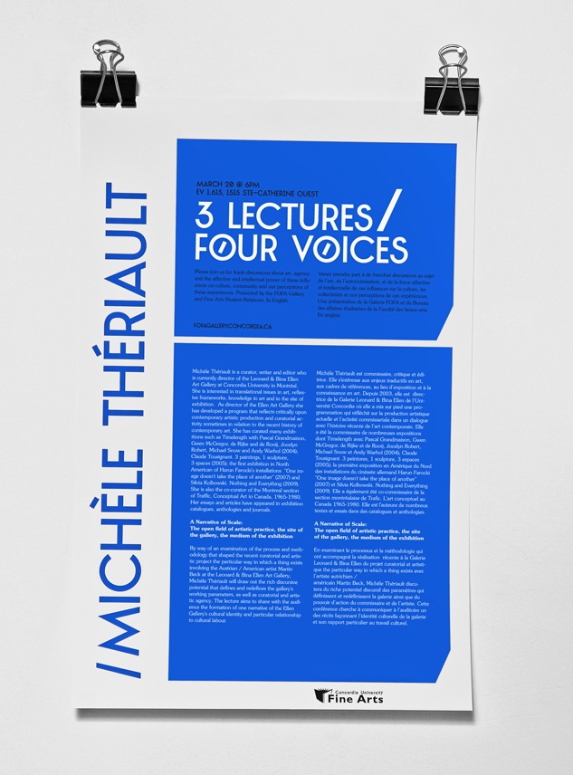 3 lectures 4 voices